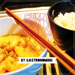 Curry thai de gambas