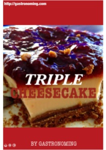 Triple cheesecake