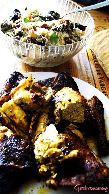 Pollo asado con especias