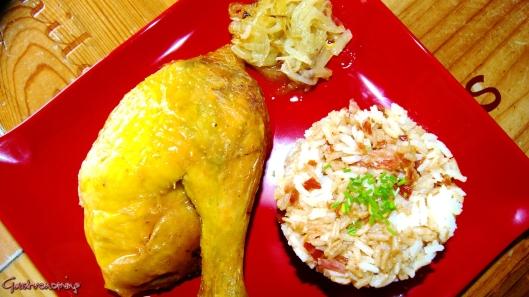 campo con panceta y arroz