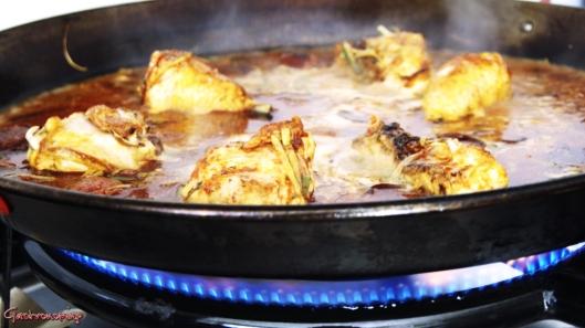 Arroz con pollo y chorizo