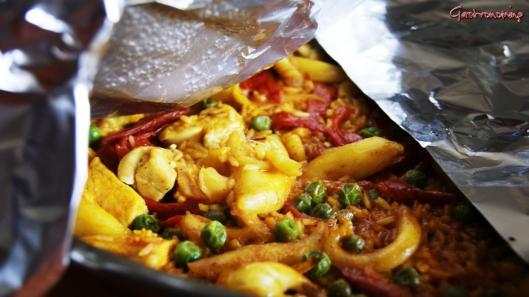 arroz con pollo y sepia