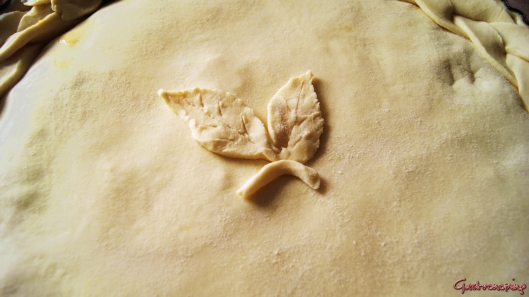 pastel de pollo y puerros