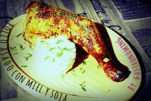 Pollo con miel y soja