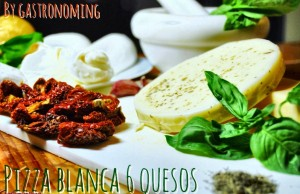 Pizza blanca 6 quesos