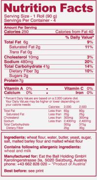 etiqueta nutricional