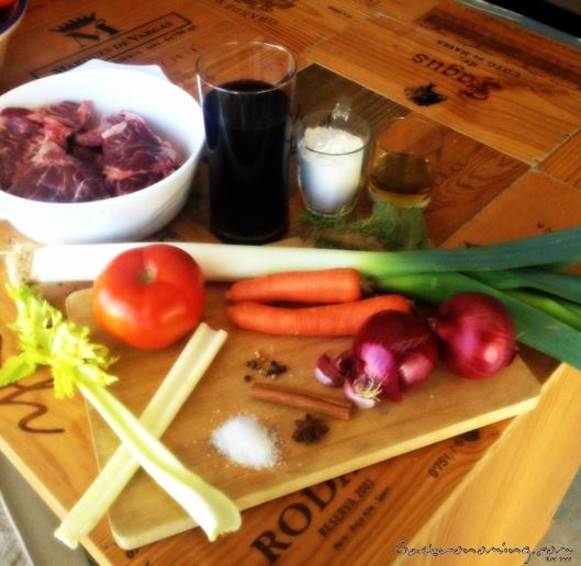 Carrilleras de cerdo ibérico al vino tinto